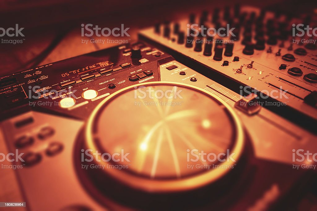 Audio dj mixer royalty-free stock photo