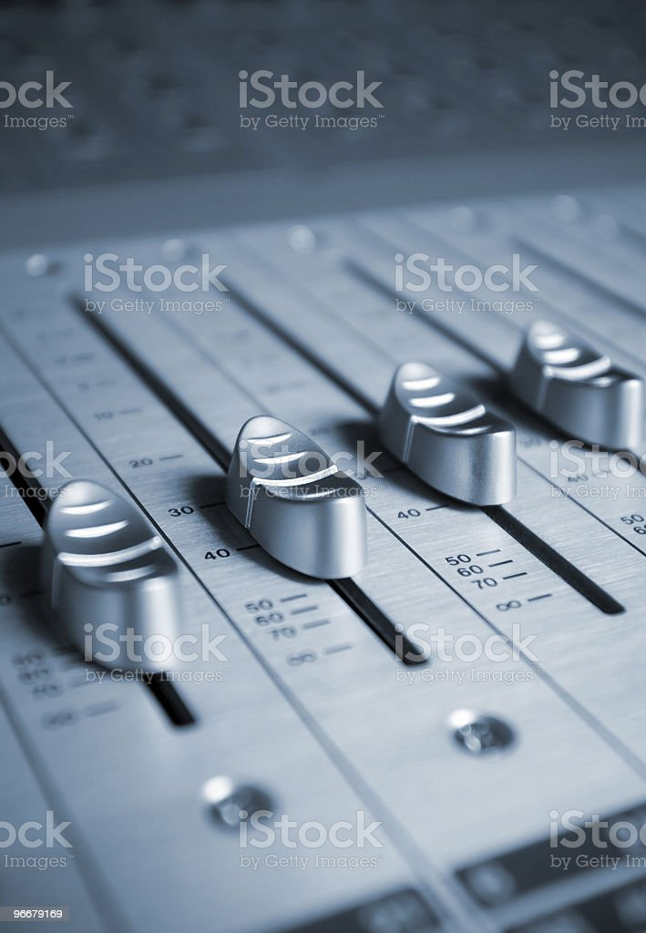 Audio Engineer Mixing Board royalty-free stock photo
