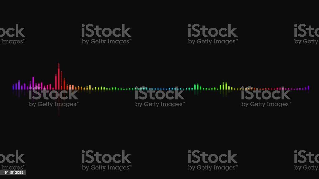 Audio equalizer background. Multicolor digital backdrop stock photo