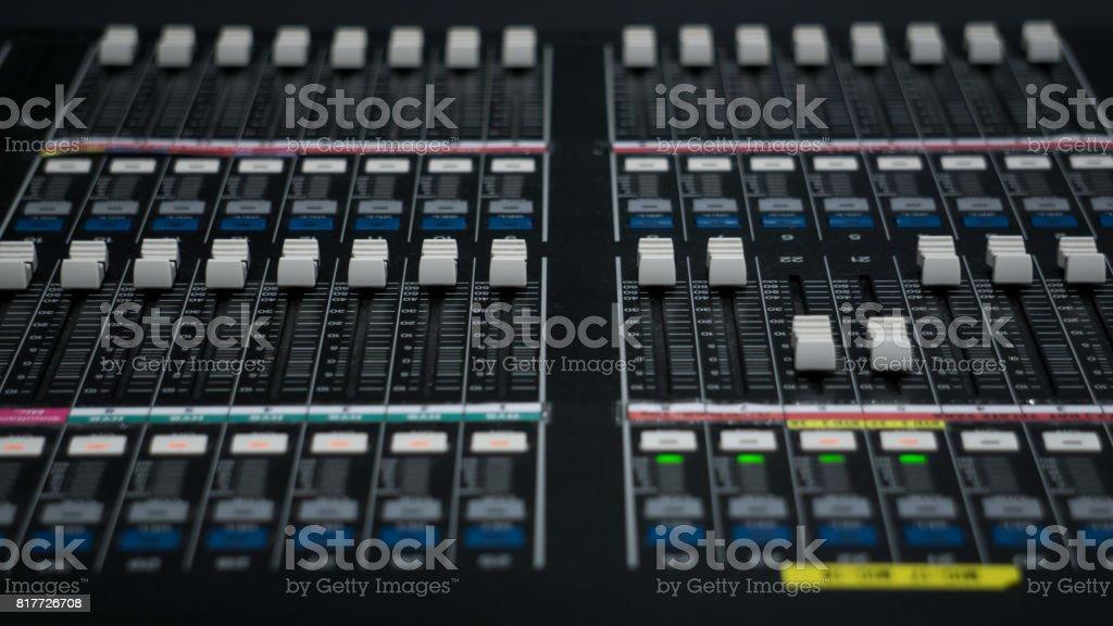Audio Mixer for Tv Control Room stock photo