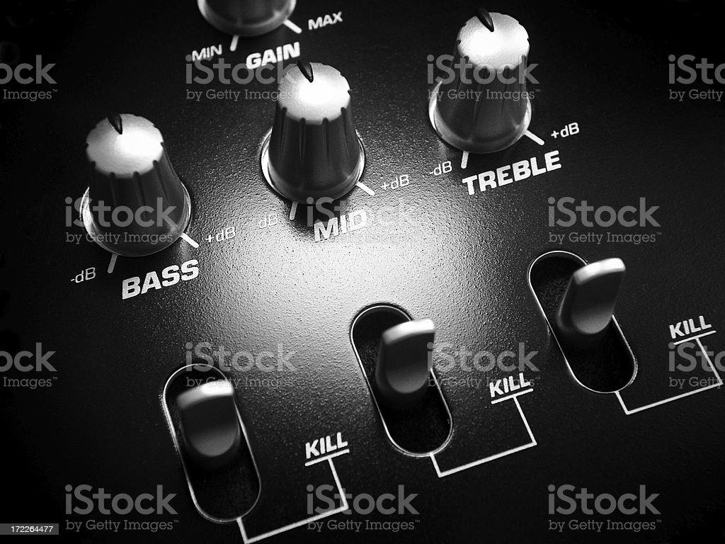 Audio Mixer Knobs royalty-free stock photo
