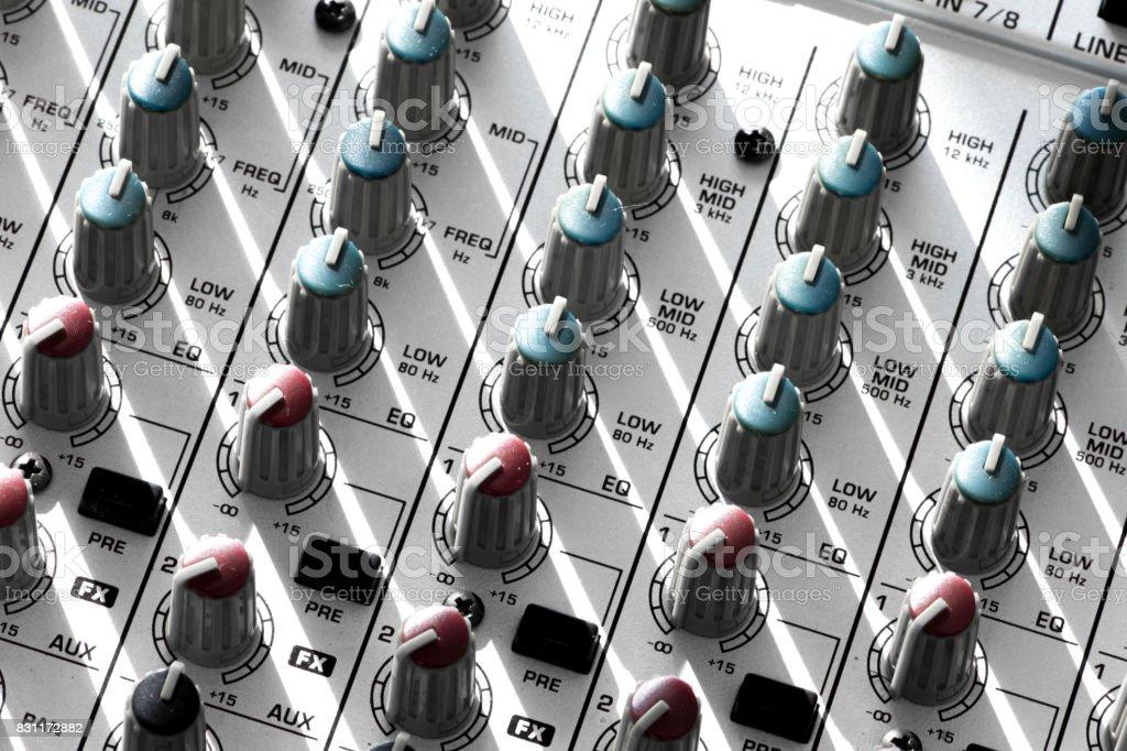 Audio mixer stock photo