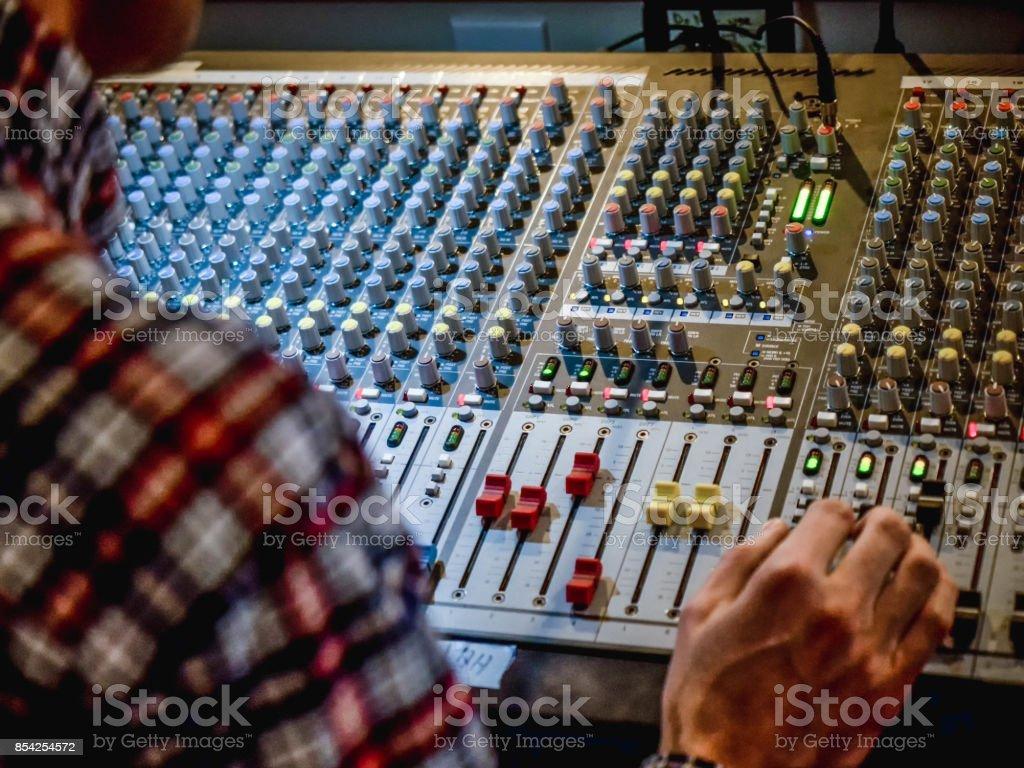 Audio Mixer / Sound Board stock photo