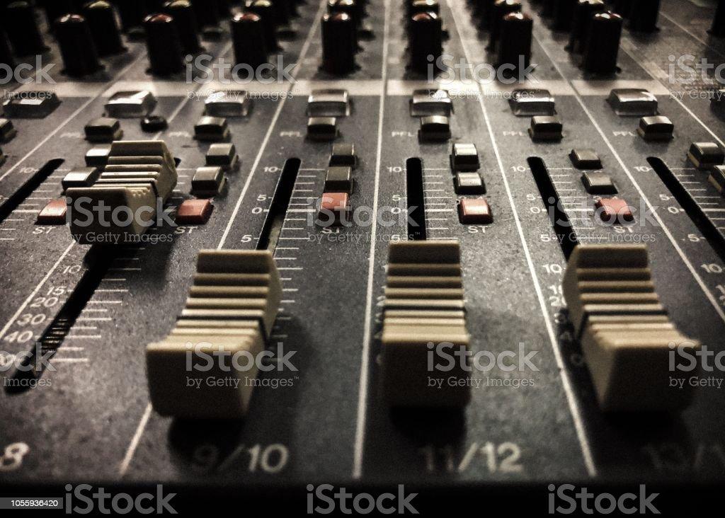 Audio Mixer Studio Board