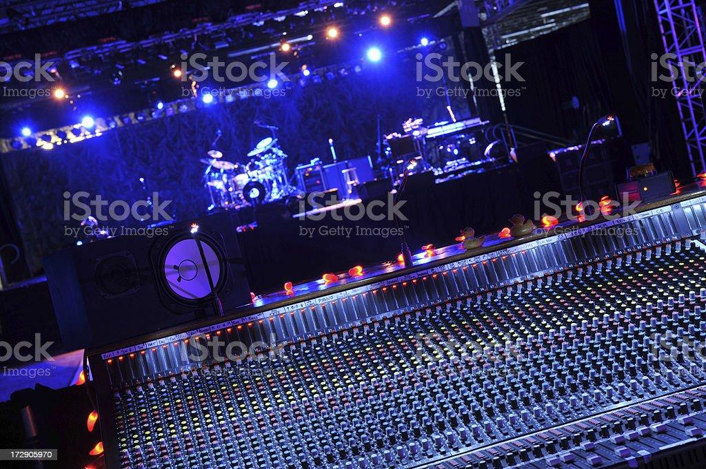 Audio Mixer with Stage stock photo