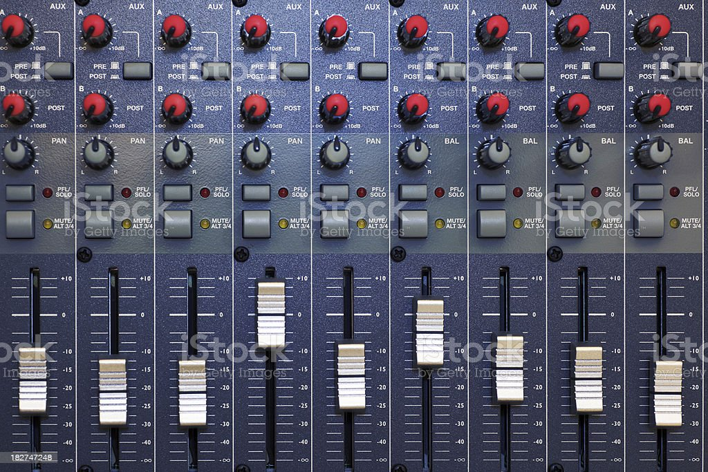 Audio Mixing Board stock photo