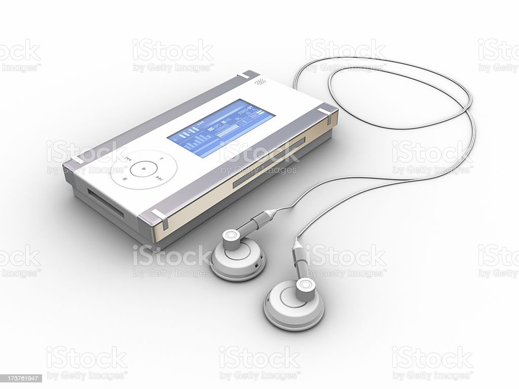 MP3 Audio Player 01 royalty-free stock photo