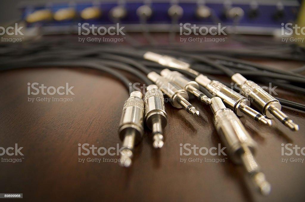 Audio plugs - jacks royalty-free stock photo