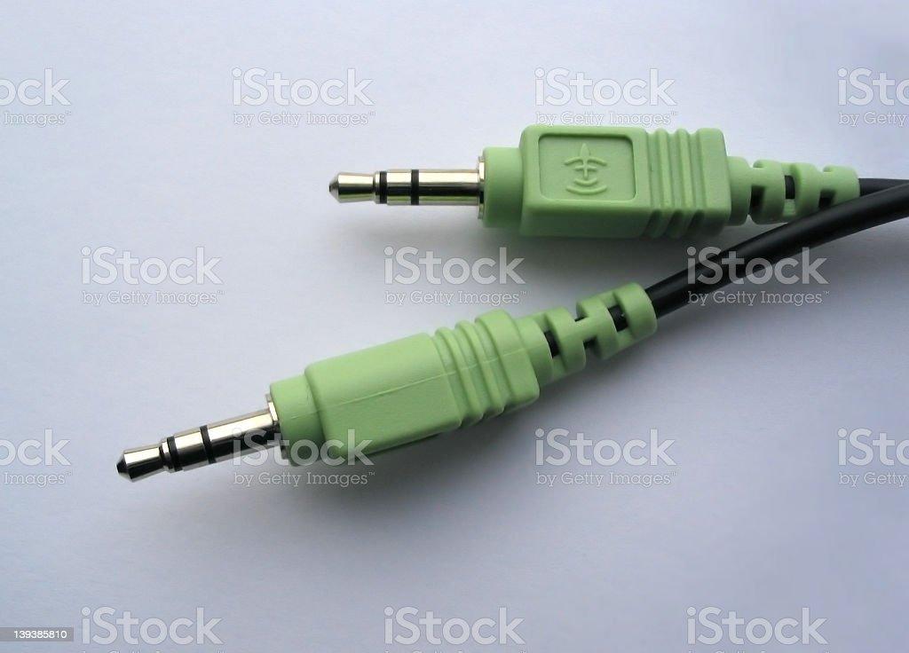 audio plugs stock photo