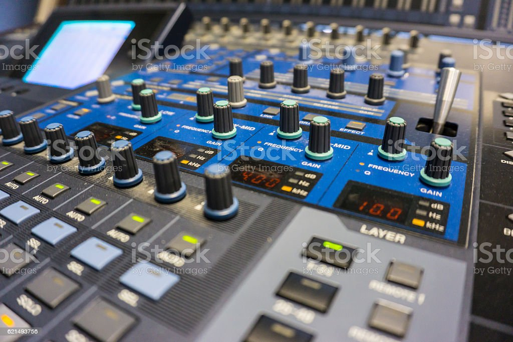 Audio Production Switcher of Television Broadcast Lizenzfreies stock-foto