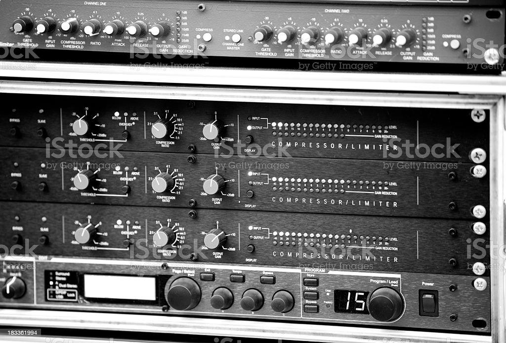 Audio Rack royalty-free stock photo