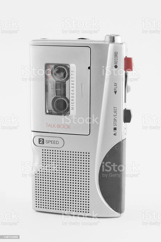 Audio recorder reproduces cassete stock photo