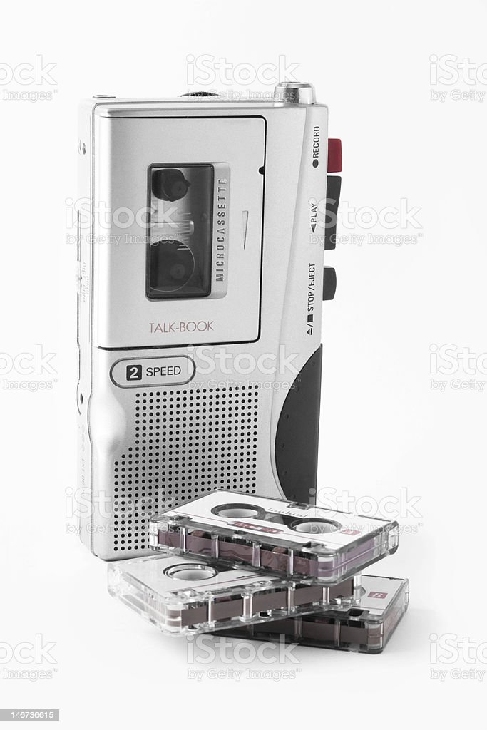 Audio recorder with cassettes stock photo