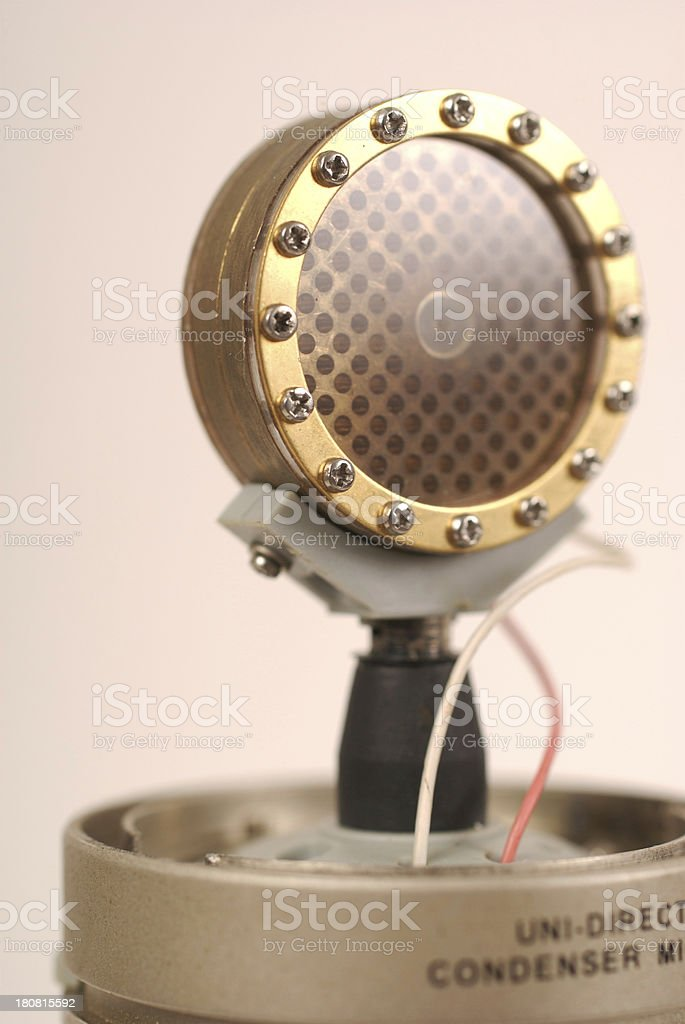 Audio Recording Microphone Macro Diaphram And Wires stock photo