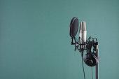 istock Audio recording vocal studio voice microphone 1291090854