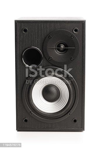 istock audio sound speaker, isolated on white 1194575275