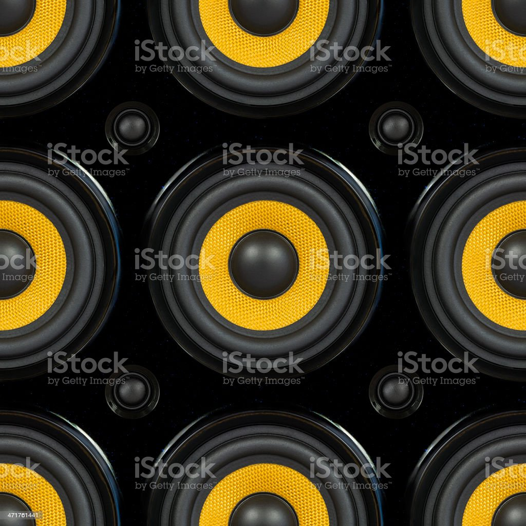 Audio Speaker Seamless Pattern stock photo