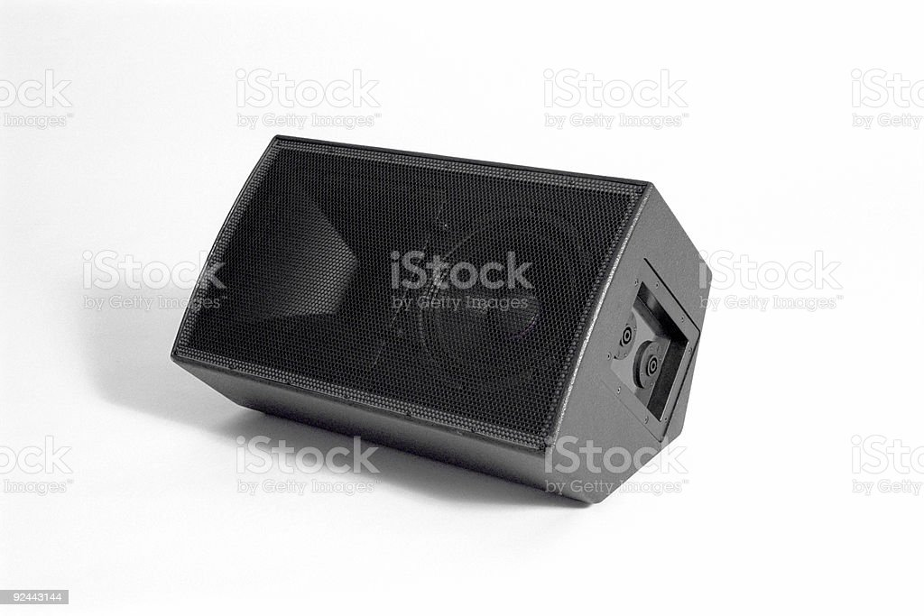 Audio Speaker with Speakon connectors royalty-free stock photo