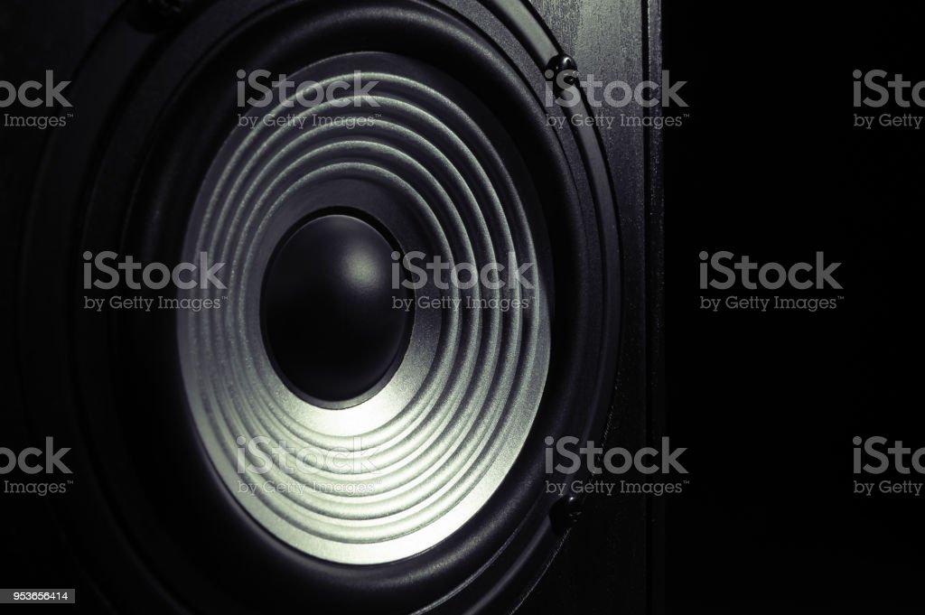 audio speaker with wavy membrane stock photo