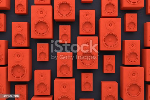 istock Audio Speakers Background 982480786