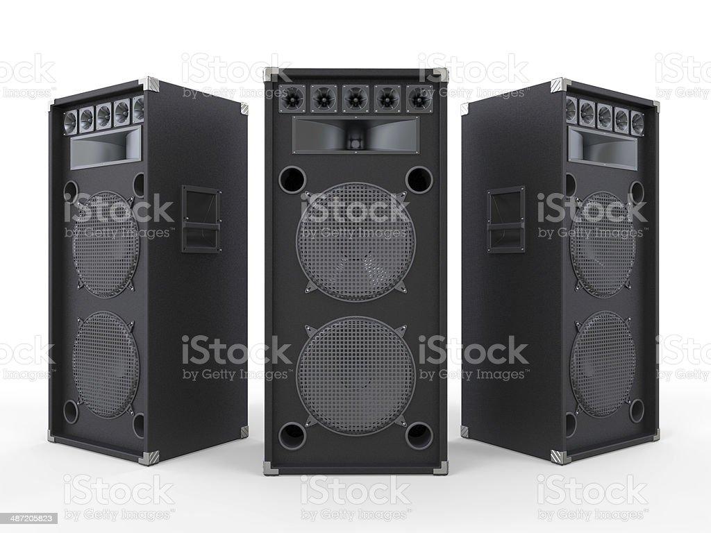 Altavoces de Audio aislados - foto de stock