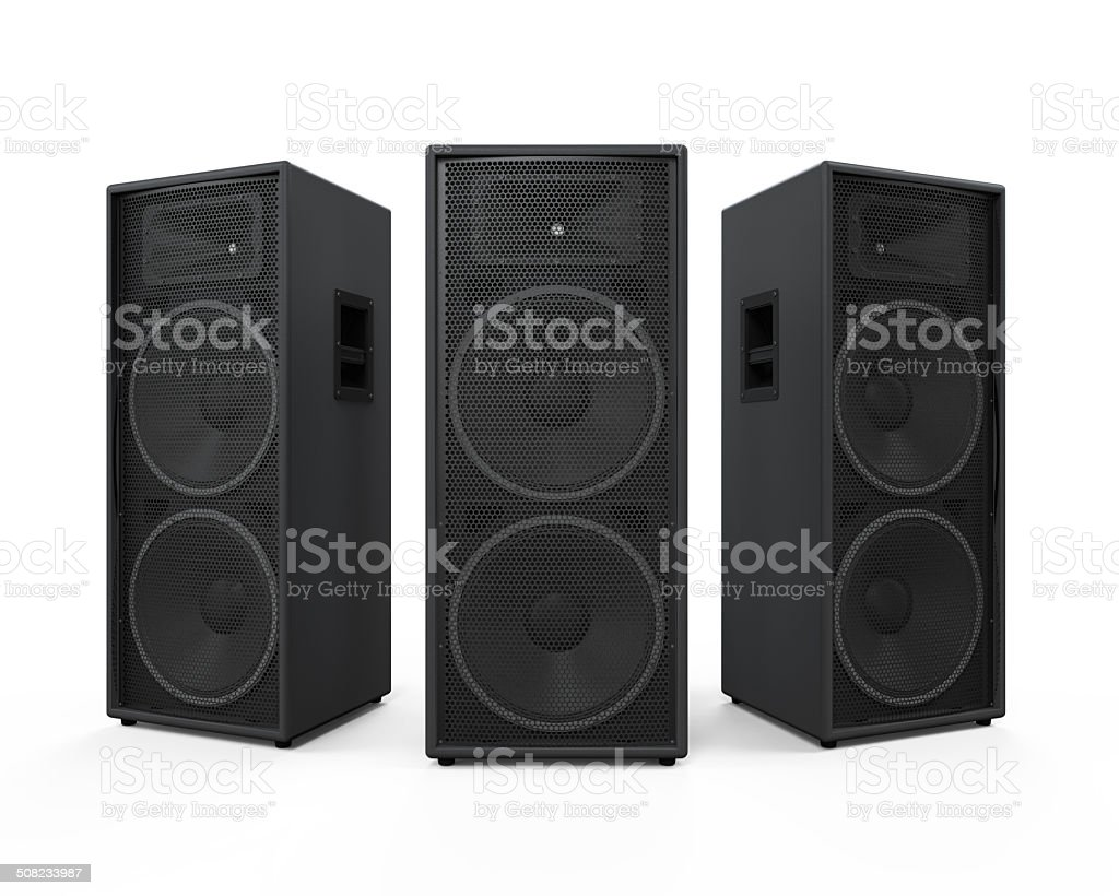 Audio Speakers Isolated stock photo