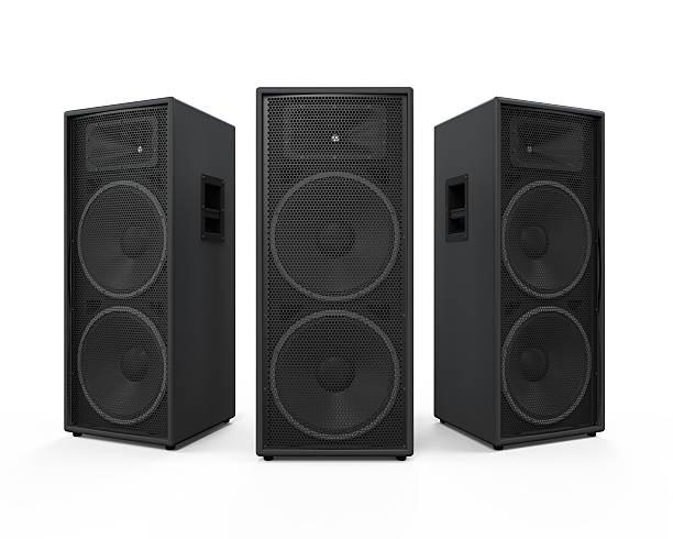 altoparlanti audio isolato - altoparlante hardware audio foto e immagini stock