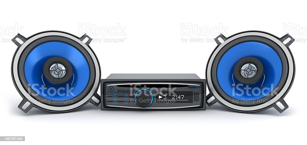 Audio system car stock photo