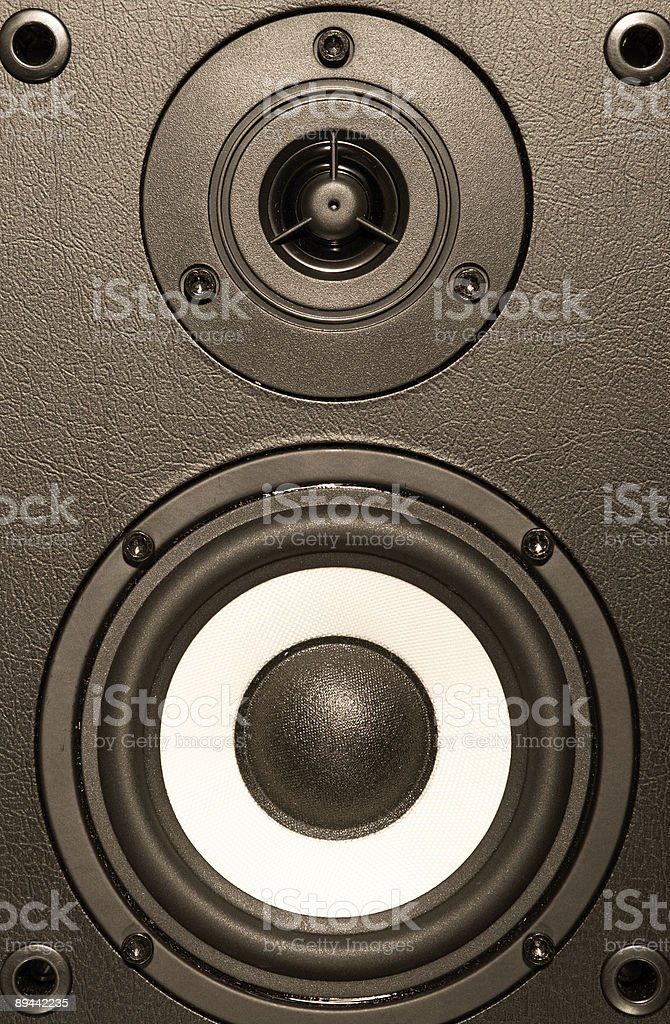 Audio system equipment - speaker close up view royalty-free stock photo