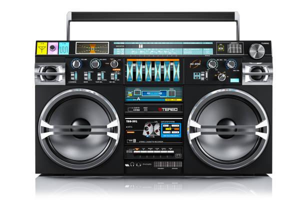 Audio tape recorder, ghetto boombox stock photo