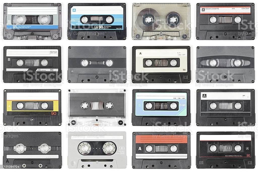 Audio tapes stock photo