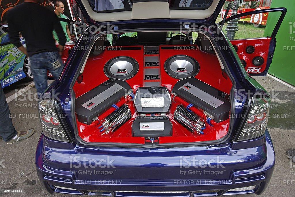 Audio tunning stock photo