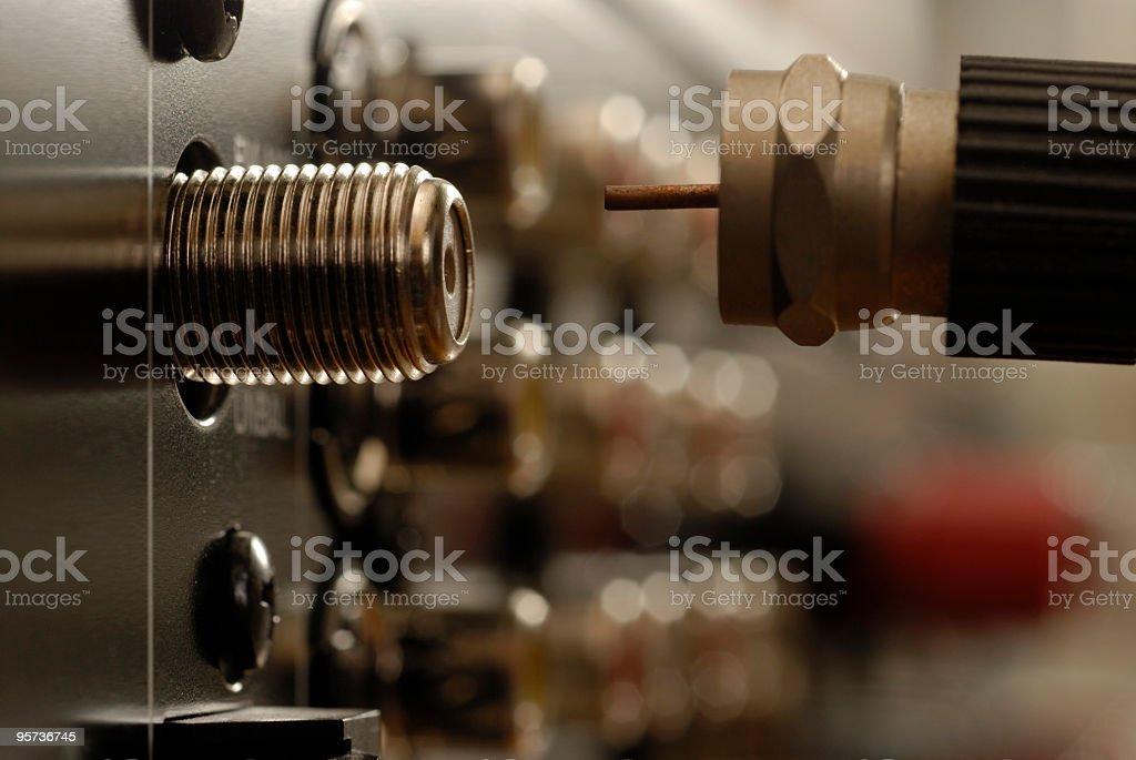 Audio Video Connection stock photo