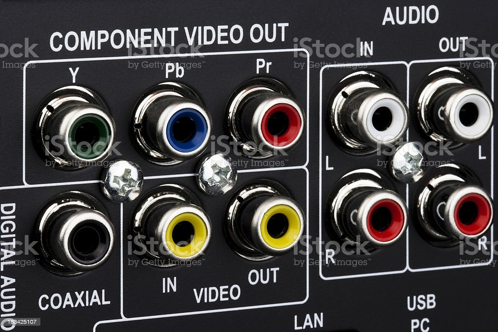 Audio Video Connections stock photo