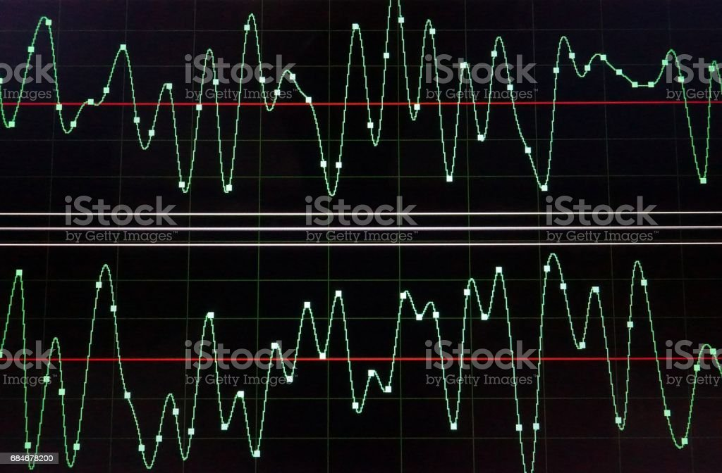 Audio Wave stock photo