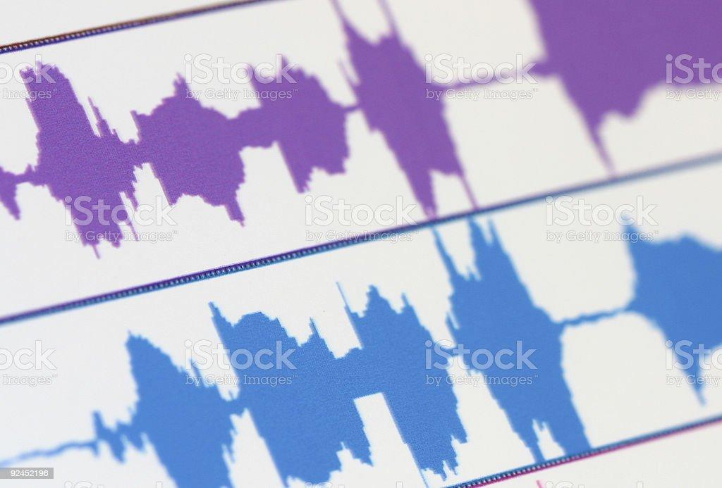 Audio wave stock photo