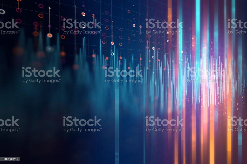 Fundo abstrato tecnologia de áudio de forma de onda - Foto de stock de Abstrato royalty-free