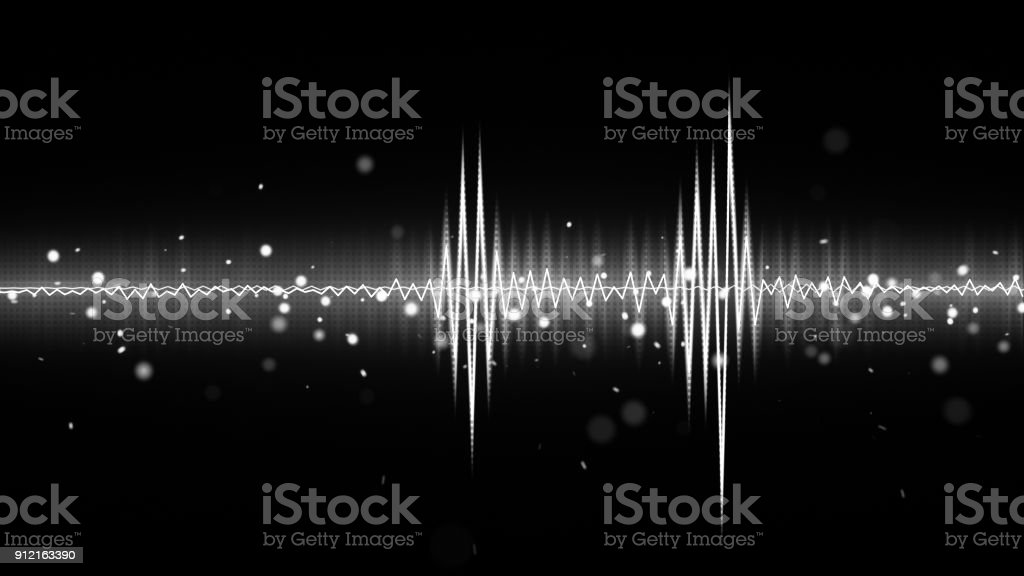 audio waveform black and white equalizer stock photo