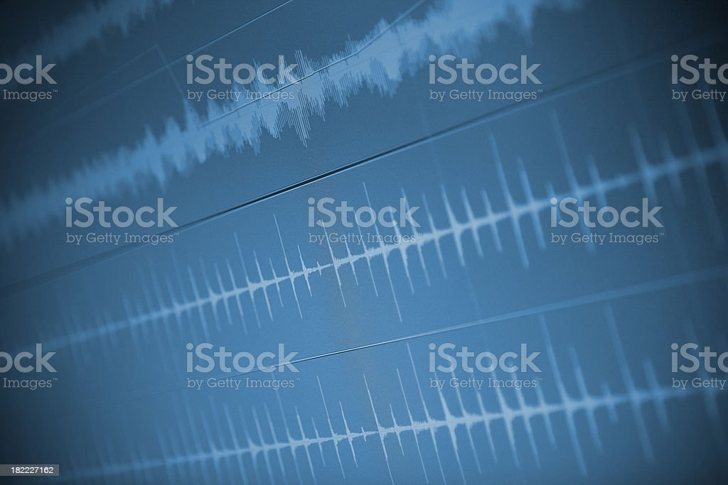 Audio waveforms royalty-free stock photo