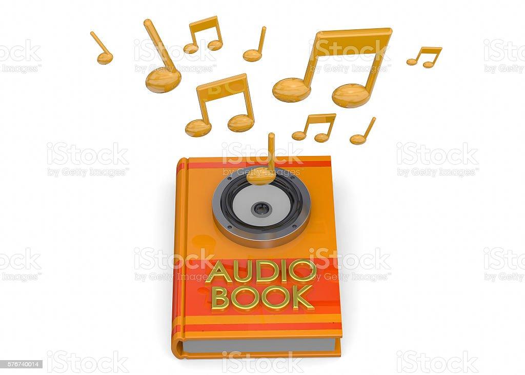 Audiobooks Concept -3D stock photo