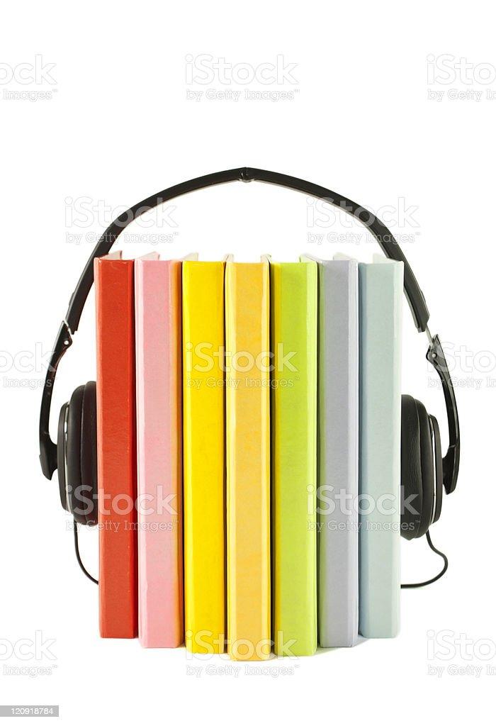 Audiobooks concept stock photo