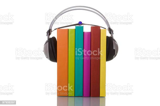 Audiobooks  Audio Equipment Stock Photo