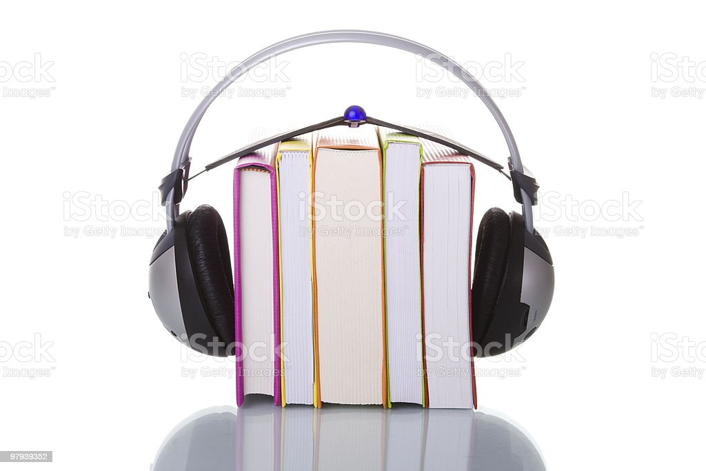 Audiobooks royalty-free stock photo