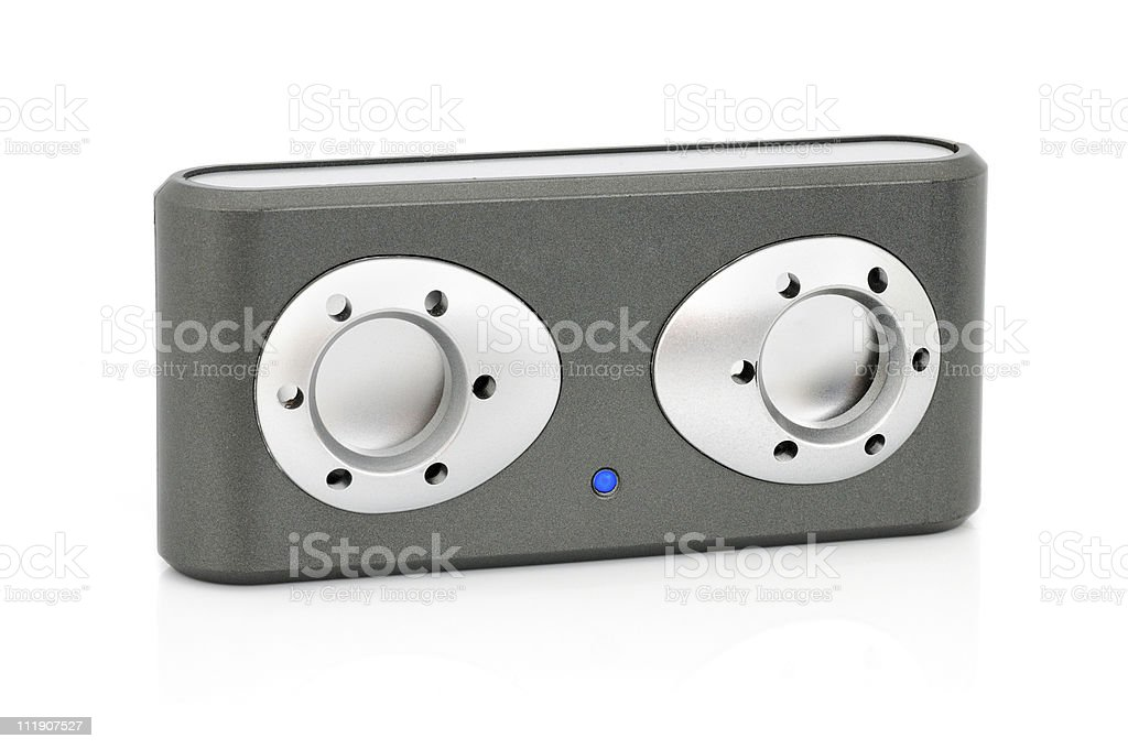 Audiobox and MP3-player stock photo