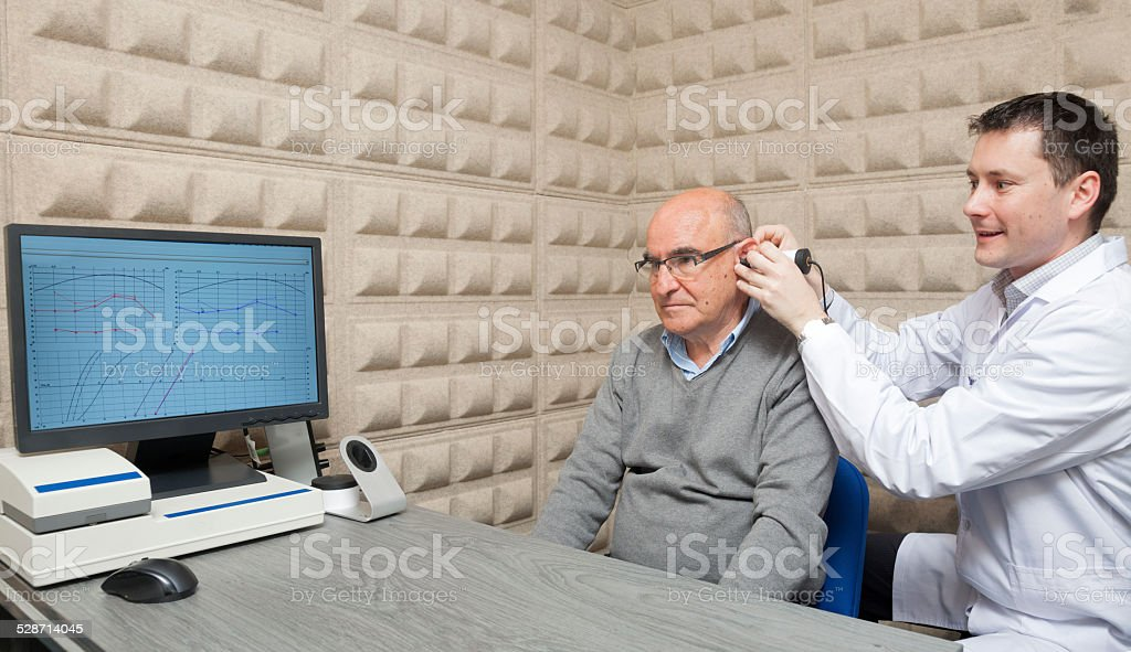 Audiologist stock photo