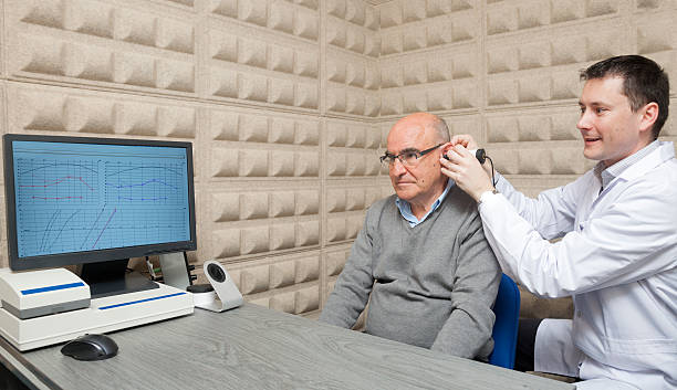 Audiologist stock photo
