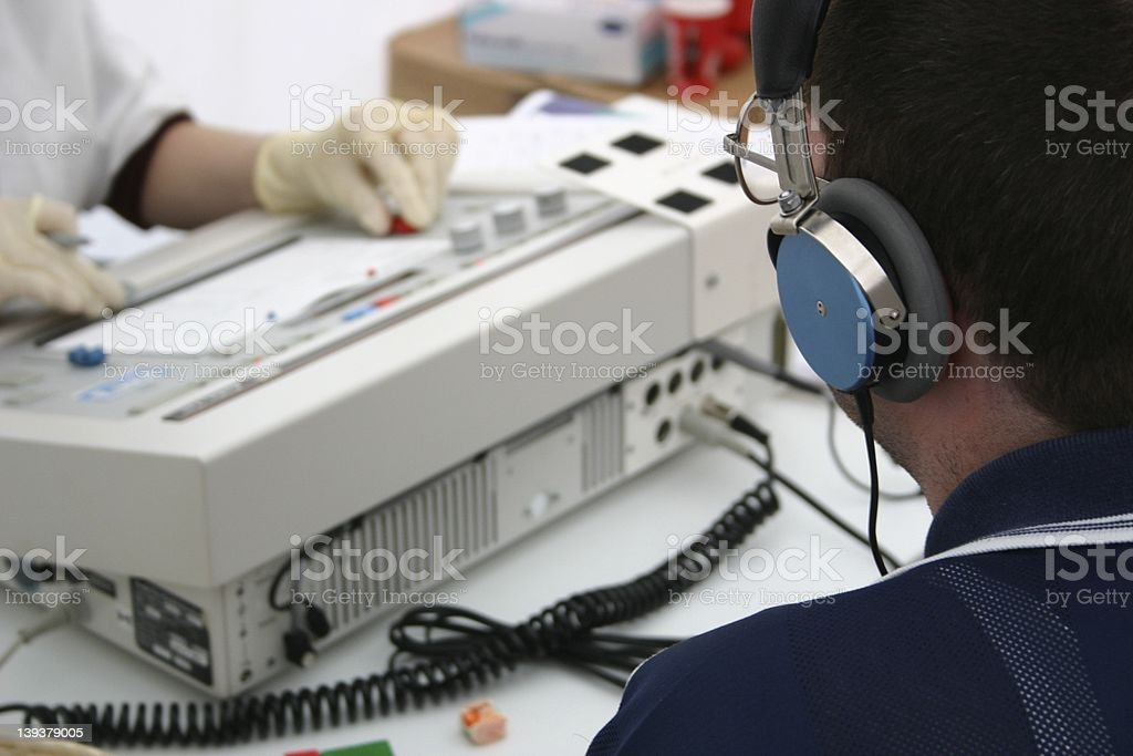 Audiometry royalty-free stock photo