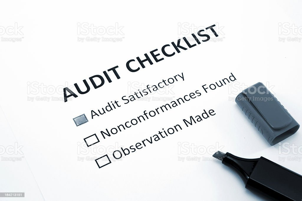 Audit checklist royalty-free stock photo