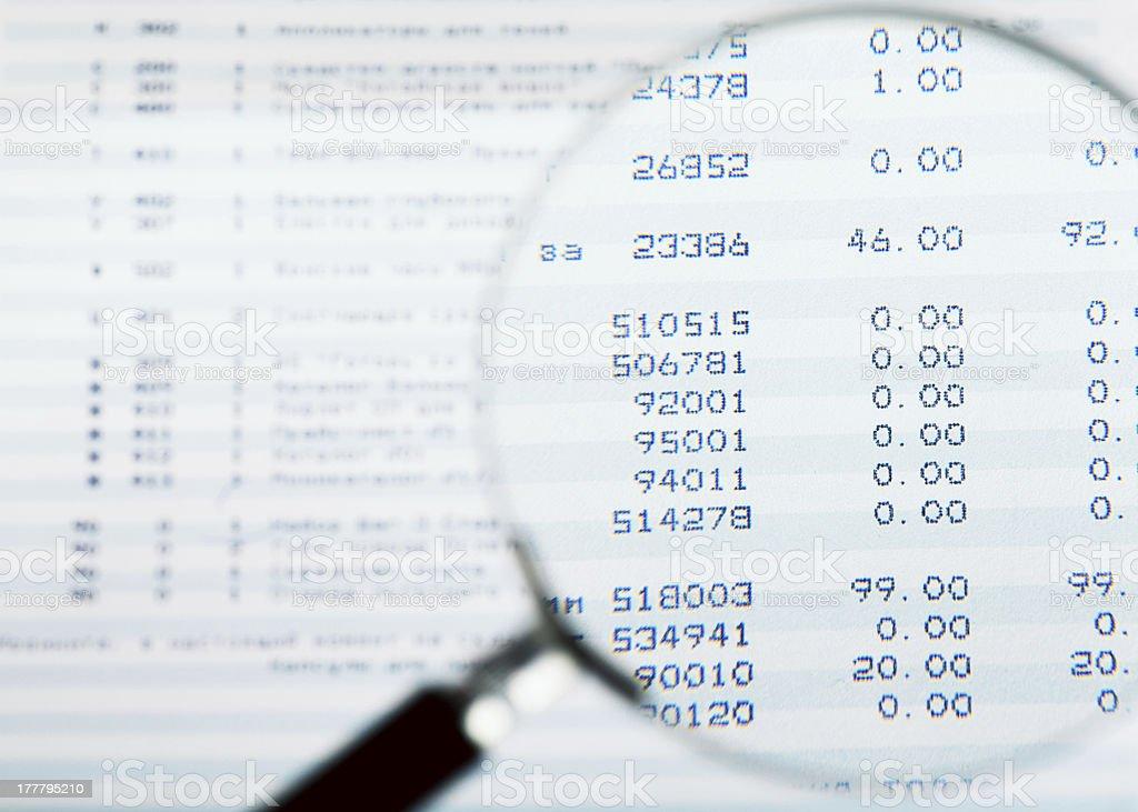 Audit royalty-free stock photo