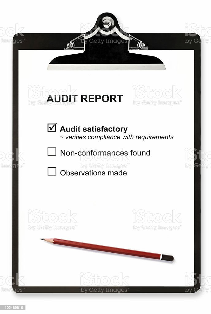 Audit Report royalty-free stock photo